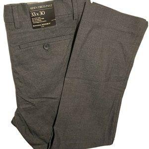 Men's Banana Republic Black Aiden Dress Pant 33X30